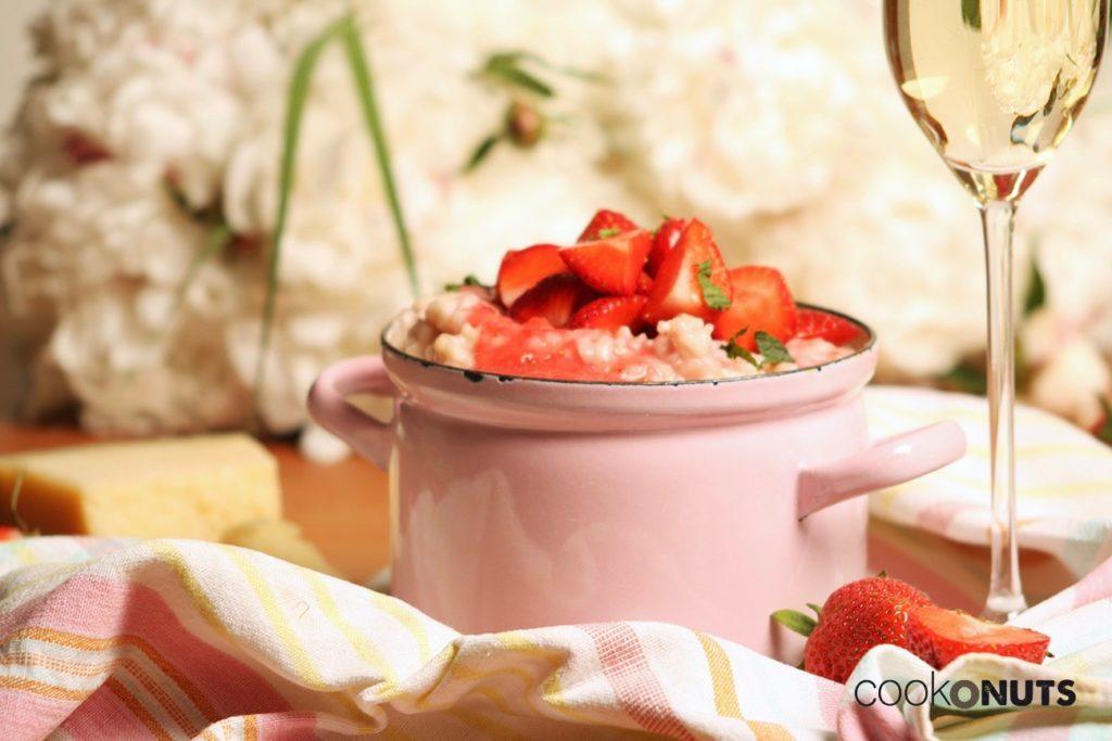 Risotto mit Erdbeeren Minze
