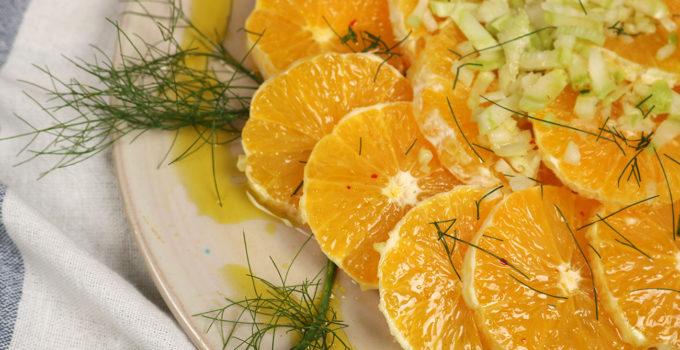 Sommerlicher Orangen Fenchel Salat