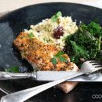 Lachs mit gebratenem Grünkohl und Blumenkohl-Couscous
