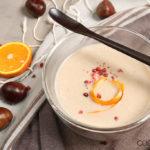 Maroni Suppe mit Orangen und Kokosmilch