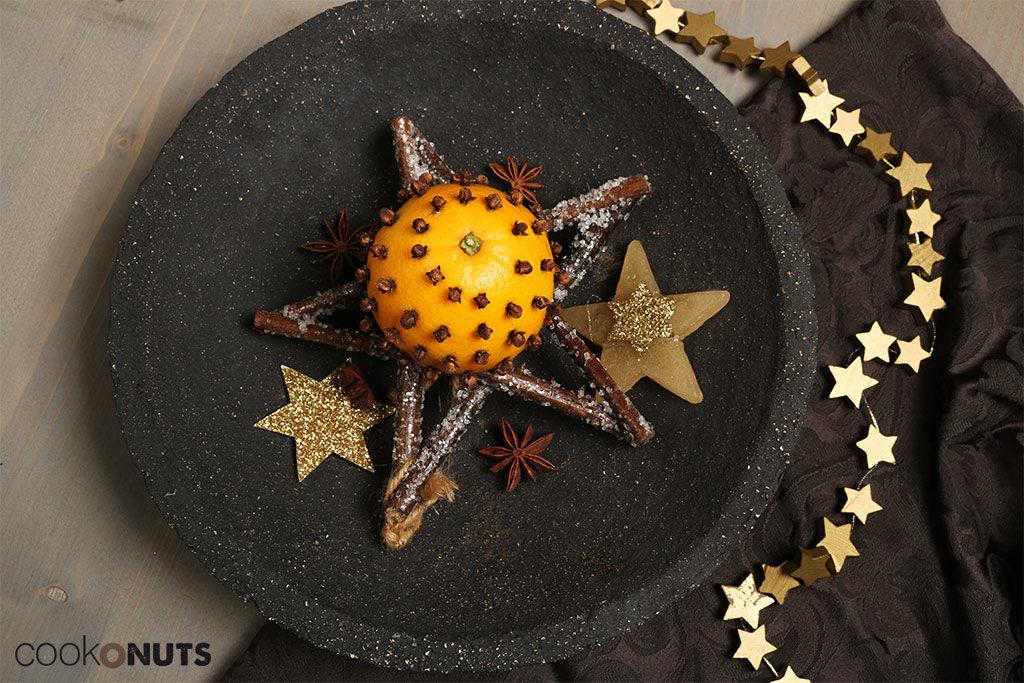 Weihnachtsdeko selber basteln - Nelken Orangen