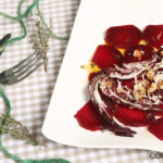 Rote Rüben Carpaccio mit Schafskäse und Walnüssen
