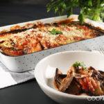 Auberginenauflauf mit Mozzarella und Basilikum
