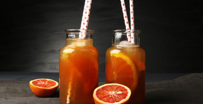 Orangen-Vanille Eistee