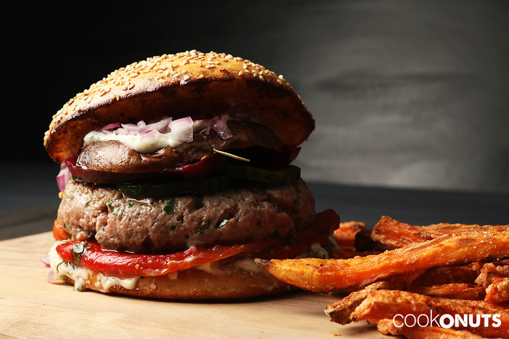 Selbstgemachter Beefburger