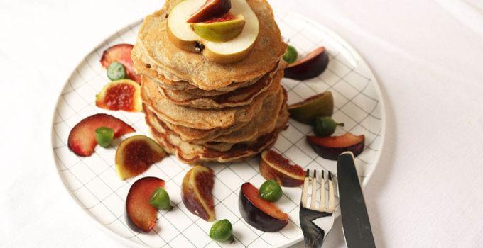 Dinkel-Haferpancakes mit Feigen (glutenfrei)